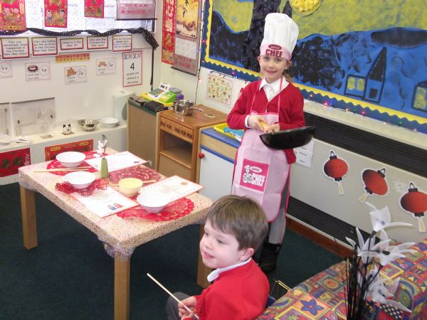 Chinese Restaurant Dramatic Play